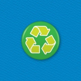 Recycle Button Badge