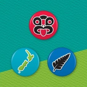New Zealand Icons 3 Badge Set