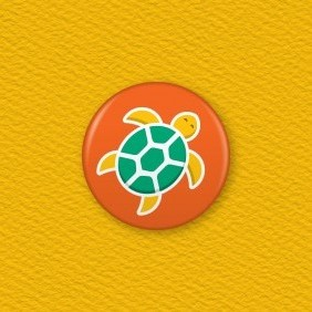 Turtle Button Badge