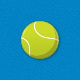 Tennis Ball Button Badge