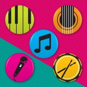 Musician 5 Badge Set