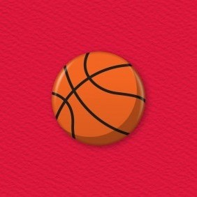 Basketball Button Badge