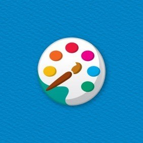 Artist's Paints Button Badge