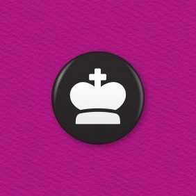 Chess Piece – King Button Badge