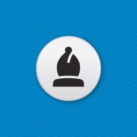 Chess Piece – Bishop Button Badge