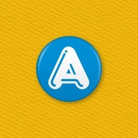 Letter A Button Badge