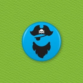 Pirate Button Badge
