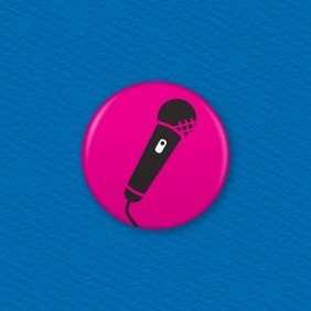 Microphone Button Badge