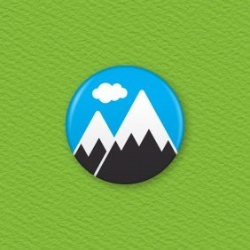 Mountain Button Badge