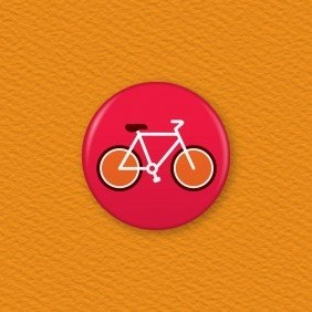 Bicycle Button Badge