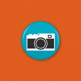 Camera Button Badge