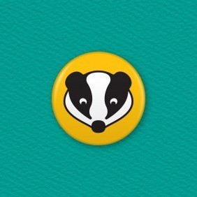 Badger Button Badge