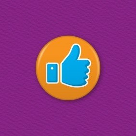 Thumb Up Icon Button Badge