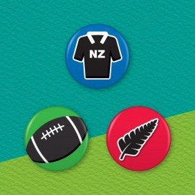 New Zealand Rugby 3 Badge Set