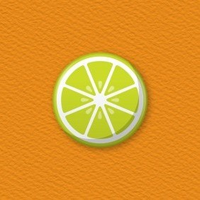 Lime Slice Button Badge