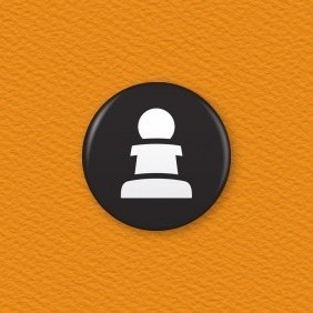 Chess Piece – Pawn Button Badge
