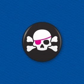 Jolly Roger Button Badge