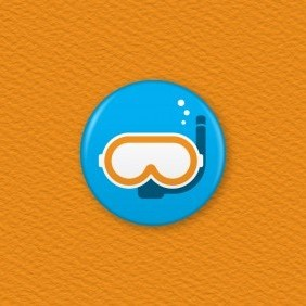 Snorkel Button Badge