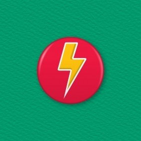 Electric Bolt Icon Button Badge