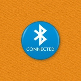 Bluetooth Icon Button Badge