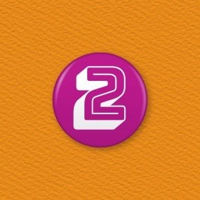 Number 2 Button Badge