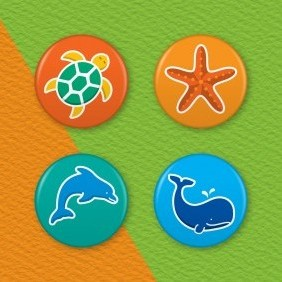 Marine Wildlife 4 Badge Set