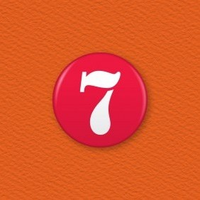 Number 7 Button Badge