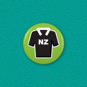 NZ Rugby Button Badge