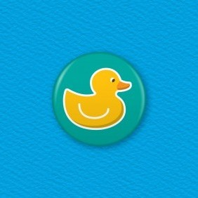Rubber Duck Button Badge