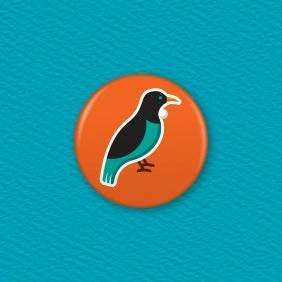 NZ Tui Button Badge