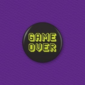 Game Over Button Badge