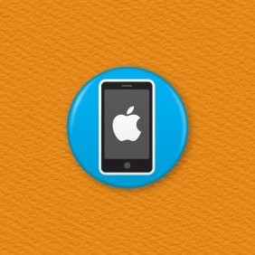 Apple Phone Button Badge