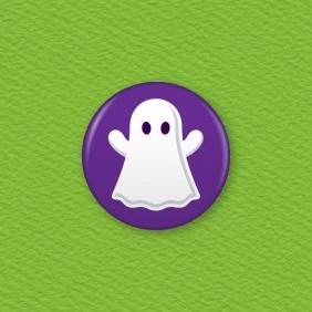Ghost Button Badge