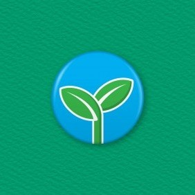 Seedling Button Badge
