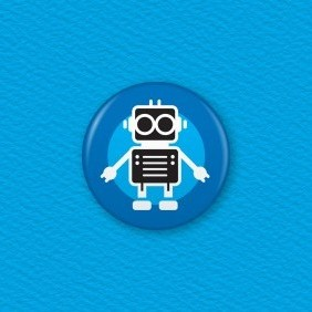 Robot Button Badge