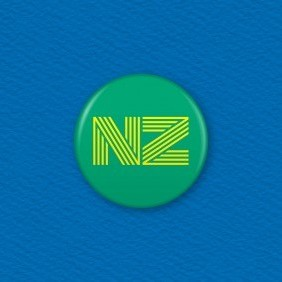 NZ Button Badge