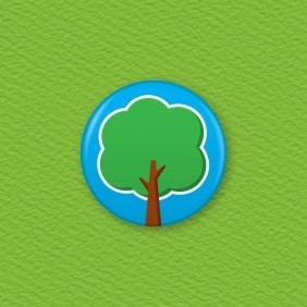 Tree Button Badge
