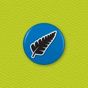NZ Fern Button Badge