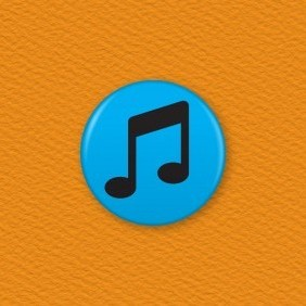 Music Note Button Badge