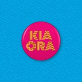 Kia Ora Button Badge