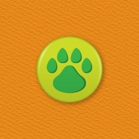 Paw Print Button Badge
