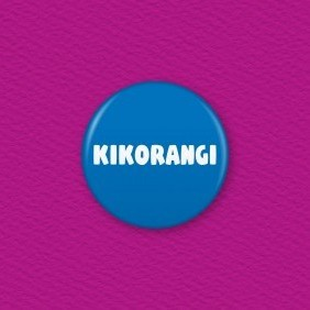Kikorangi (Blue) - Te Reo Maori Colour Button Badge