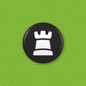 Chess Piece – Rook Button Badge