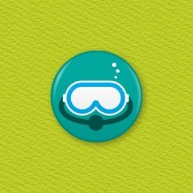 Scuba Dive Button Badge