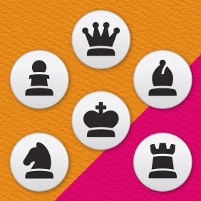 Chess Pieces 6 Badge Set