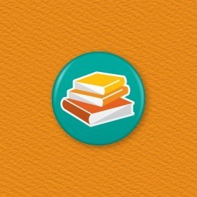 Books Button Badge