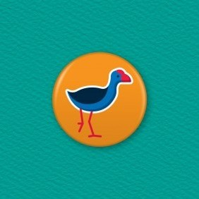 NZ Pukeko Button Badge