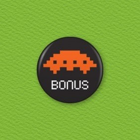 Space Invaders Button Badge