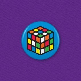 Rubik's Cube – Mixed Button Badge