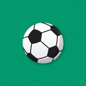 Soccer Ball Button Badge